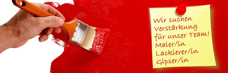 Wand wird mit roter Farbe angemalt